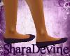 Purple Maternity Flats
