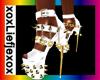 [L] White Gold Heels