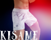 [K] White Boxing Shorts