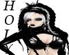 Violet black white