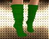Green Reindeer Socks