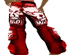 pants mad red F