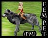 PM) Action Wolf Pet Fem