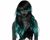Black & Teal Long Hair