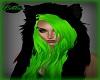 Wolf Hat W Green Hair
