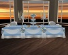 Sky Blue Wedding Buffet