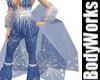 Blue Frost Shawl
