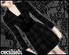 ! black grid coat