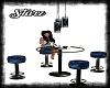 Blue/Black Club Table