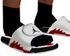 Jordan slides V2 sock