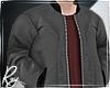 Gray Bomber+Red Shirt