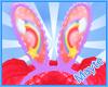 rainbow stars bunny ears