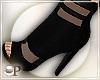 Black Sheer booties