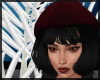 Black Bertha Rose Hat