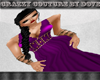 Cc - Grecian Purple Gown
