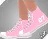 ~AK~ Varsity Shoe: Pink