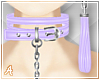A| Purple Choker + Leash