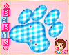 ! ✿ Paw Carpet Blue
