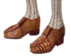 tan loafer and socks