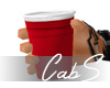 CS Red Plastic Water Cup