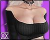 ☾ Ribbed shirt black