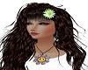 Daisy hair fleur green