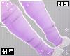 Purple paw socks