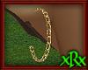 Chain Hoop Earrings Gold