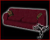 [T] Burgandy Couch 3Seat