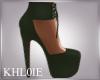 K Mel Khaki heels