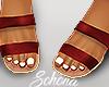 ṩ Brea Sandals Wine