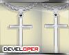 :D Cross Silver Chain