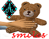 Ama{Cuddle Bear smiles