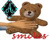 Ama{Cuddle Bear smiles