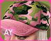 -AY- Pink Milittar Cap