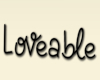 Loveable Head sign