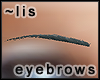Eyebrows: steel