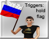 RUSSIA FLAG IN HAND