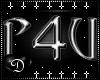 {D} P4U Cross Sticker