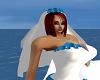 white blue veil