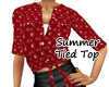 ~B~ Summer Tied Top Red
