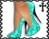 * Teal Sequin Heels