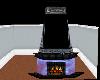 Crystal Blue Fireplace