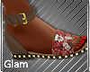Brown Flowered Sandals