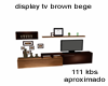 display tv brown bege