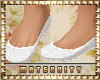 Maternity White Flats