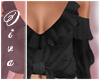♔Frilly Black Top