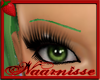 (NA) Green Thin Eyebrows