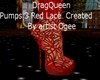 Red Lace DragQueenPumps