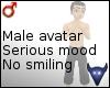 Serious mood avatar (m)